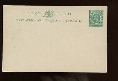 British Commonwealth East Africa & Uganda KEVII 3c Postal Card UNUSED