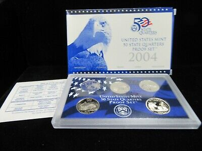 Empty Packaging Replacement Proof Quarter Set Box No Coins 2005