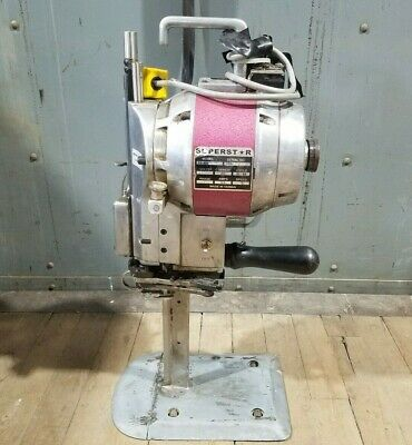 Superstar SS-880 Cloth Fabric Cutting Machine 110V 50/60 Cycle 1 Phase 9.0A Used