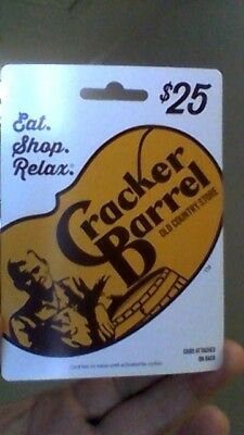 Cracker Barrel Old Country Store $ 25.00 Gift Card