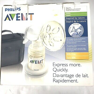 Philips Avent Breast Pump On-the-go Set Manual Pump Black Case