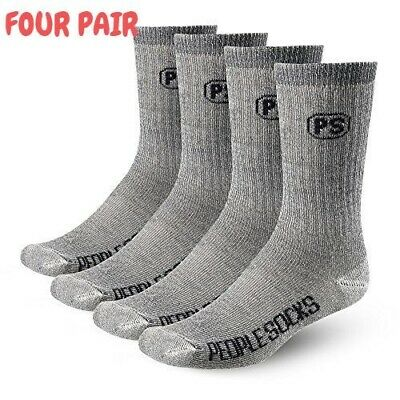 People Socks Merino Wool Crew Socks 4 Pairs Premium With Arch Below Zero Large