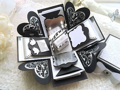 Personalised Silver and Black Birthday Photo Album Box Creative Present