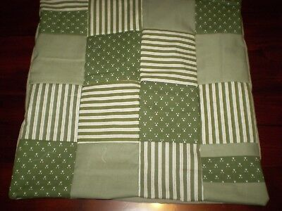 Patchwork Cushion Cover - Green - D