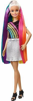 Kids Girls Toy Barbie Rainbow Sparkle Hair Doll Multicolor Birthday Xmas Gift