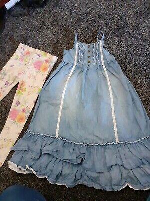 girls NEXT age 6 dress and age 7 leggings
