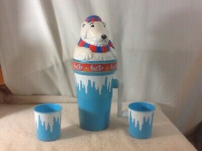 Cool POLAR ICE Crank Icee/Slushy Maker is a POLAR BEAR Has 2 Small Cups pre-own