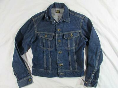 Vtg 60s Mint Dark Lee 101J Sanforized Union Made Denim Jacket Sz 38 R Trucker