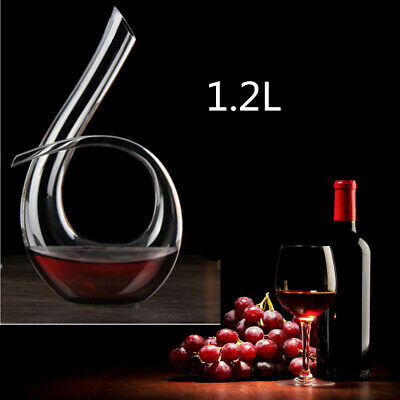 Wine Decanter Lead-Free Crystal Glass Red Wine Decanter / Carafe U Shape 1200ML