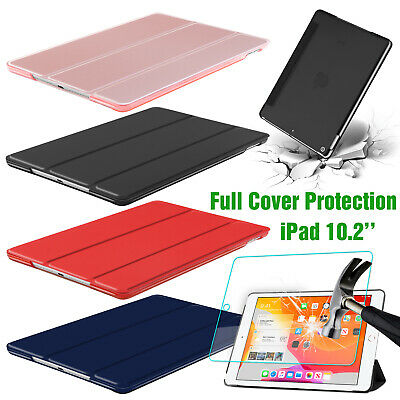 For Apple iPad 7th Generation 10.2'' 2019 Smart Stand Case With Screen Protector
