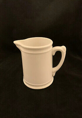 Antique Homer Laughlin White Ironstone Small Pitcher Creamer Syrup Circa @ 1913?