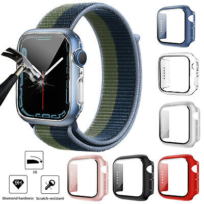 For Apple Watch Series 5/4 44mm 40mm Soft TPU Bumper Case Cover Screen Protector