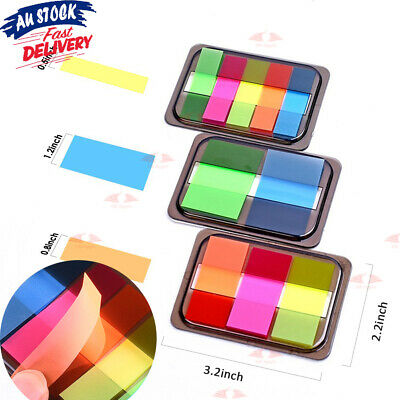 80-200Pc Sticky Notes Adhesive Index Tabs Memo Markers Bookmark Diary Notebook