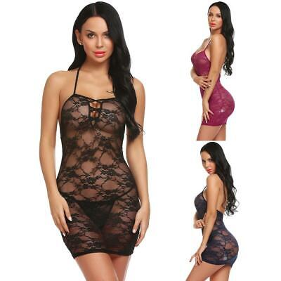 Babydoll in tulle con pizzo floreale per donna OO55 01