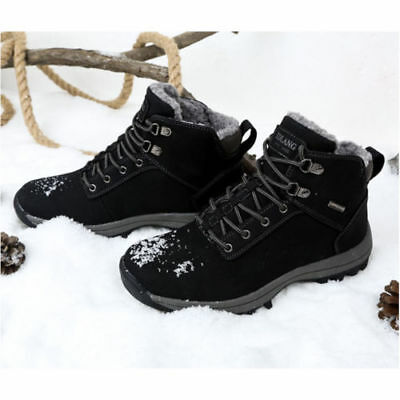 Men's Waterproof Winter Warm Snow Boots Outdoor Hiking Sports Shoes Trainer