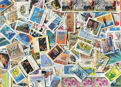 AUSTRALIAN USED ON PAPER POSTAGE STAMPS x 100 PIECES