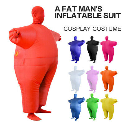 Inflatable Fat Chub Suit Costume Adult Stag Hen Party Fancy Dress Funny Outfit