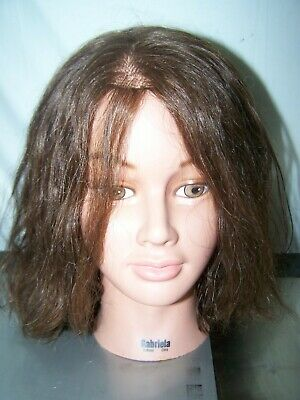 Gabriela 100% Cheveux Humains Cosmetology Mannequin Tête