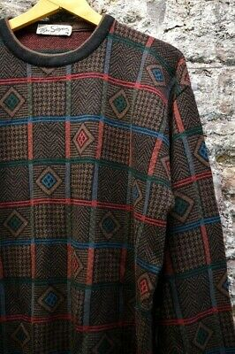 Vintage Gents Abstract Relax Fit Crew Neck Jumper - XXL - Tom Sayers.