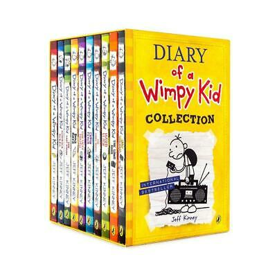 Diary of a Wimpy Kid, Set of 10 Book by Jeff Kinney Paperback Book Free Shipping