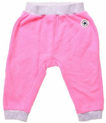 CONVERSE Girls Tracksuit Trousers 18-24 Months Pink Cotton  LS07