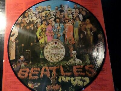 12 Inch Vinyl - Picture Disc - The Beatles - Sgt Pepper