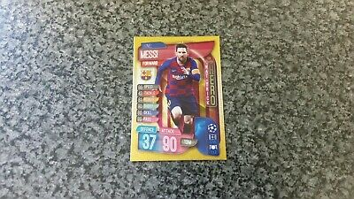 Match Attax Champions League 2019/20 No-315 Lionel Messi Hat-Trick Hero Mint