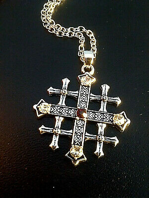 JERUSALEM CROSS Pendant- LISTED BELOW -The Jerusalem Cross History & Meaning.