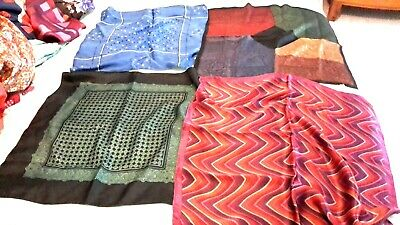 4  x PURE SILK TOP POCKET HANDKERCHIEFS  hand rolled hem vintage