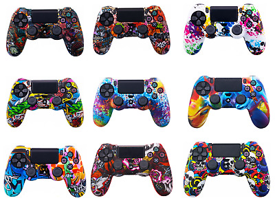 PS4 Controller Skin Retrodog Protective Pattern Silicone Rubber Case Cover Grips