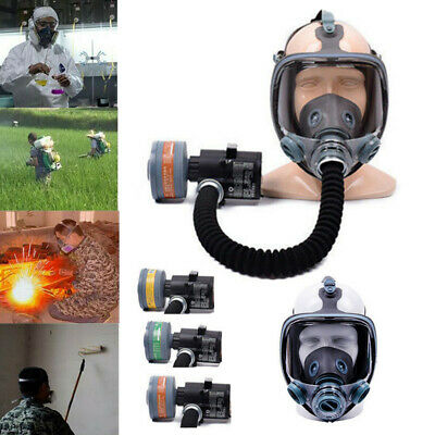 Electric Gas Mask Respirator System Constant Flow Supplied Chemical Air Fed