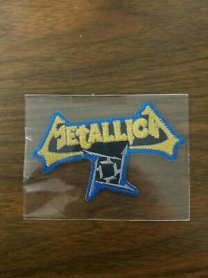 Metallica Logo Embroidered Patch Megadeth Slayer Anthrax Testament Exodus