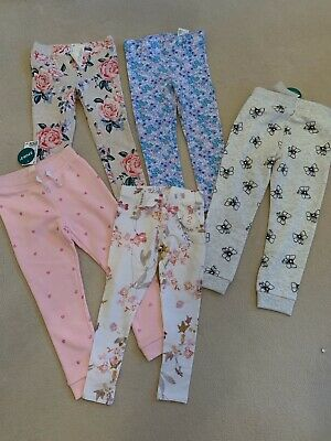 H&M And Next Girls Trousers ( Leggings ) Bundle Of 5. 4-5 Years New