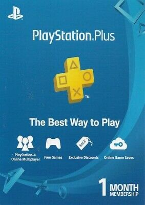 PS Plus 1 Month - 28 Days PlayStation Plus PS4 2x14Days - Read Description