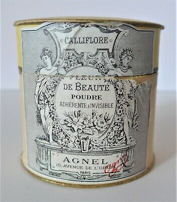 Vintage Face Powder Box Calliflore Fleur De Beaute By Agnel Paris