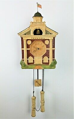 Vintage Rare Lux Animated Town Hall Wall Clock ca1910
