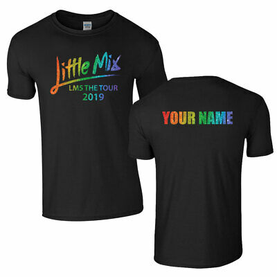 PERSONALISED LITTLE MIX Tshirt Tee Top LM5 Tour Rainbow Adult Kids Unisex NEW