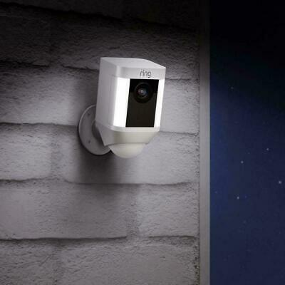 Ring Spotlight Cam Battery Wireless Outdoor Security Camera - White