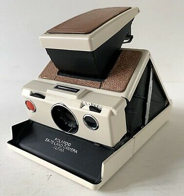 Rare Vintage White Polaroid SX-70 Instant Film Land Camera Alpha 2 Untested 1976