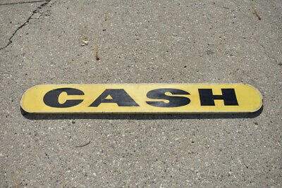 Large Vintage Hand Painted CASH Sign Point of Purchase Tattoo Bar Restaurant
