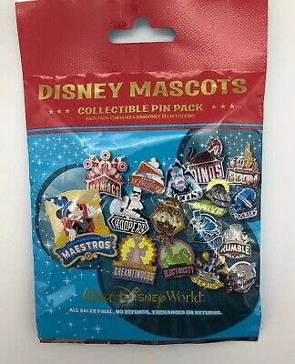 Walt Disney World Parks WDW Mascots Pin Pack Mystery Pack 5 Pins Sealed New Bag