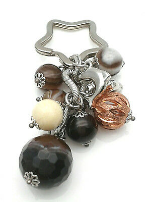 Keyring Sovereigns Steel And Hard Stones From Gioielleria Amadio