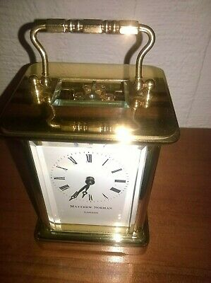 Matthew Norman brass carriage clock