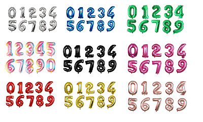 """30"""" Number Foil Helium Balloons coloured 0-9 BIRTHDAY PARTY AGE Balloon Large"""