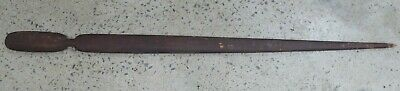 Early Australian Aboriginal Woomera Wooden Carved Spear Thrower Ochre Painted
