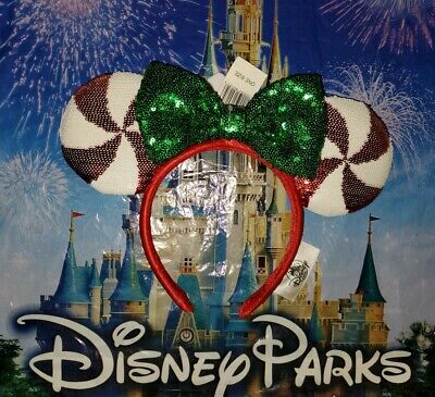 NEW Disney Parks Christmas Holiday Candy Cane Cutie Peppermint Lollipop Ears