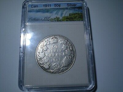 1911 50 fifty Cinquante Cents Canada Silver coin - Georges V  # F
