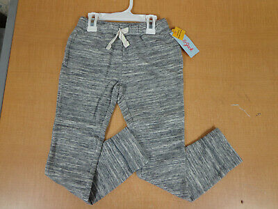 NWT! Cat & Jack Toddler Girls 5T Heather Grey Cozy Jogger Pants FAST FREE SHIP!