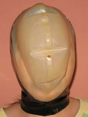 NEW 100% Handmade Latex Rubber Hood Mask mask cosplay open nose unisex L57