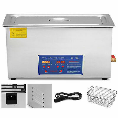 New 30L Ultrasonic Cleaner Stainless Steel Industry Heated Heater w/Timer USA